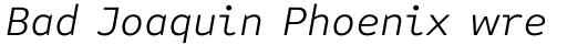 FF Attribute Text Light Italic sample