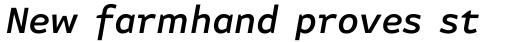 FF Attribute Text Medium Italic sample