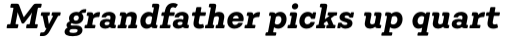 Emy Slab Bold Italic sample