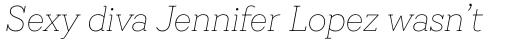Emy Slab Thin Italic sample