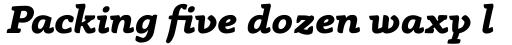 Anaphora Extra Bold Italic sample