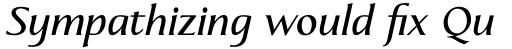 Linotype Aperto Std Semi Bold Italic sample