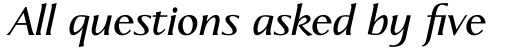 Linotype Aperto Pro Semi Bold Italic sample