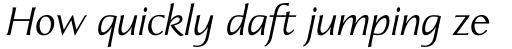Linotype Aperto Std Italic sample