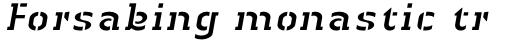 Linotype Authentic Stencil Std Italic sample