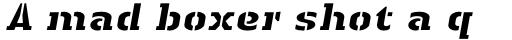 Linotype Authentic Stencil Std Heay Italic sample