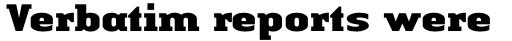 Linotype Authentic Serif Pro Black sample