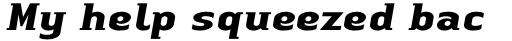 Linotype Authentic Small Serif Std Bold Italic sample