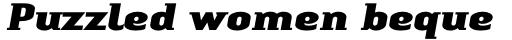 Linotype Authentic Small Serif Pro Black Italic sample