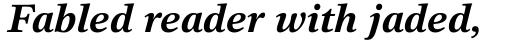 Times Europa Office Std Bold Italic sample