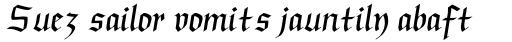 Linotype Buckingham Fraktur Regular sample