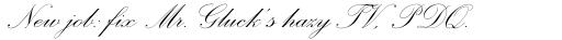 Palace Script Regular sample