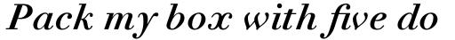 Linotype Didot eText Std Bold Italic sample