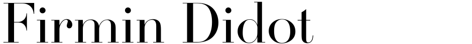 Click to view  Firmin Didot font, character set and sample text