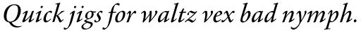 Agmena Paneuropean Italic sample