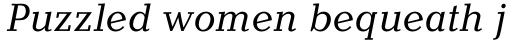 Candida Pro Italic sample
