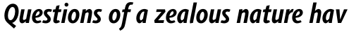 Agilita Std Condensed Bold Italic sample