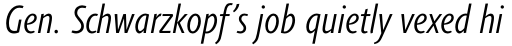 Agilita Std Condensed Light Italic sample