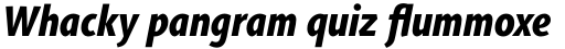 Agilita Std Condensed Heavy Italic sample