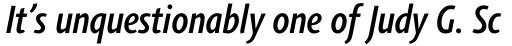 Agilita Std Condensed Medium Italic sample