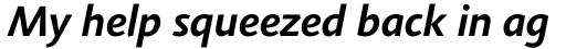 Agilita Std Bold Italic sample