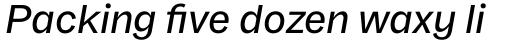Franca Medium Italic sample