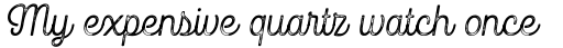Goodwater Print Script 1 sample