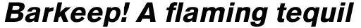 Basic Commercial Std Black Italic sample