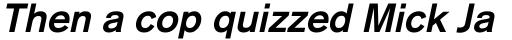 Basic Commercial Pro Bold Italic sample