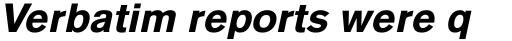 Basic Commercial Pro Black Italic sample