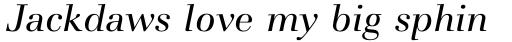 Basilia Std Italic sample
