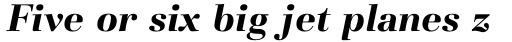 Basilia Std Bold Italic sample