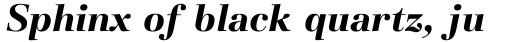 Basilia Pro Bold Italic sample