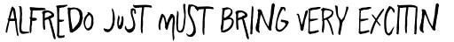 Freehand Blockletter Regular sample