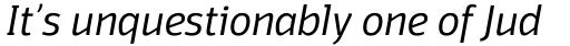 Domotika Light Italic sample
