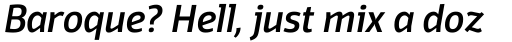 Domotika Medium Italic sample