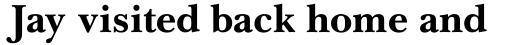 Baskerville LT Cyrilic Cyrillic Bold sample
