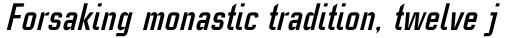 Linotype CaseStudyNo1 Pro Bold Italic sample