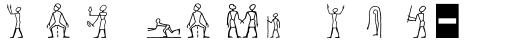 Linotype Hieroglyphes One sample
