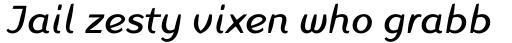 Linotype Inagur Pro Italic sample