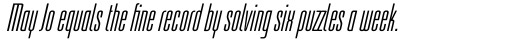 Linotype Freytag Std Ultra Light Italic sample