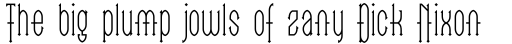 Linotype Go Tekk Thin sample