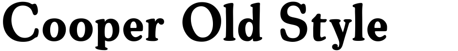 Click to view  Cooper Old Style font, character set and sample text