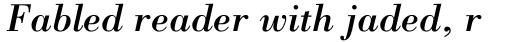 Bodoni LT Std Italic sample