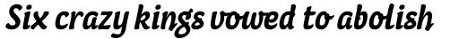 Coomeec Std Bold Italic sample