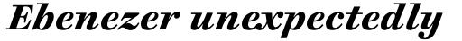 Cosmiqua Pro Bold Italic sample