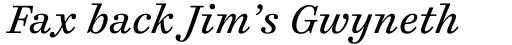 Cosmiqua Pro Italic sample