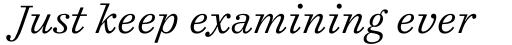 Cosmiqua Pro Light Italic sample