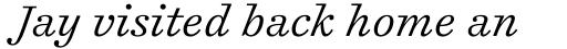 Cosmiqua Std Light Italic sample