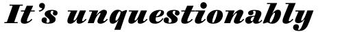 Cosmiqua Std Heavy Italic sample